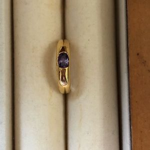 3/$30 18Kt gold plated amethyst ring size 5.5